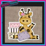 CUTE GIRAFFE DESIGN JUTE  SHOPPING LADIES GIFT BAG 002